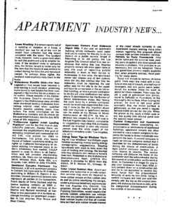 Apartment Owners and Contractors Publications